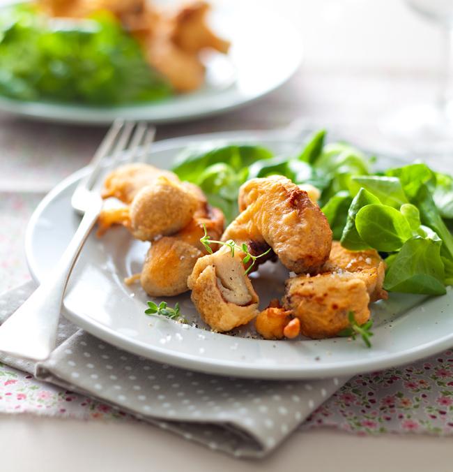 MAIZENA_Cèpes en tempura, salade de mâche_HD 2