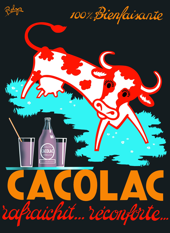 affiche vache cacolac 2