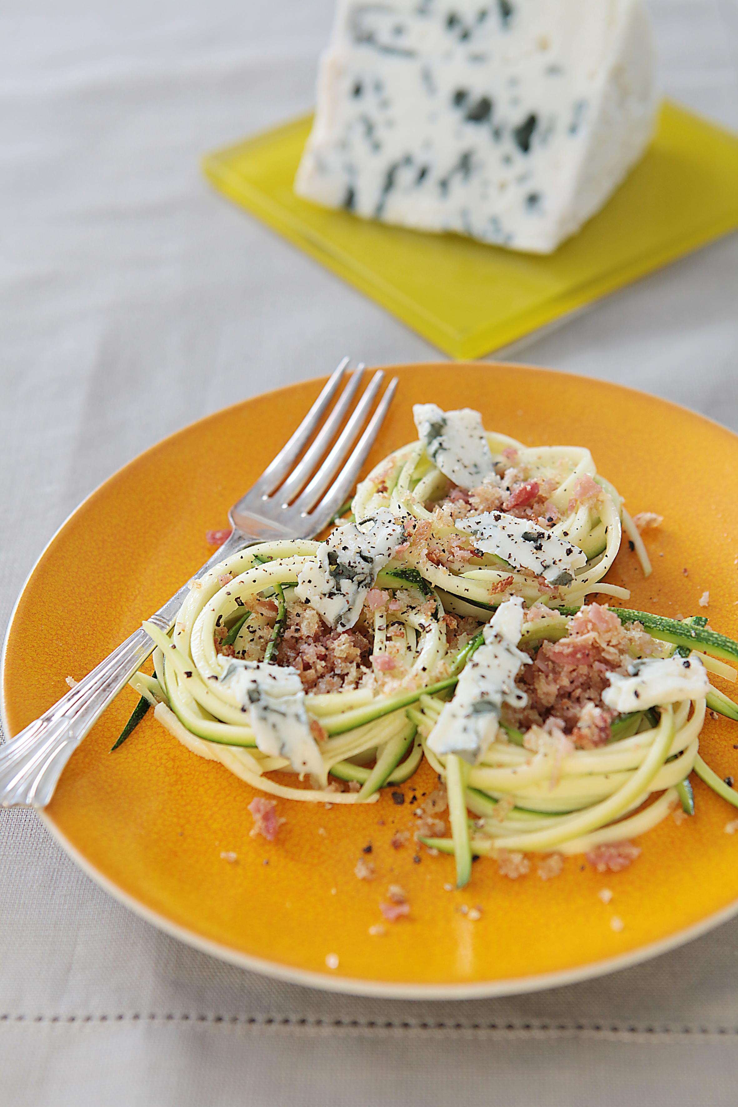salade_spaghetti_courgette_roquefort_pancetta