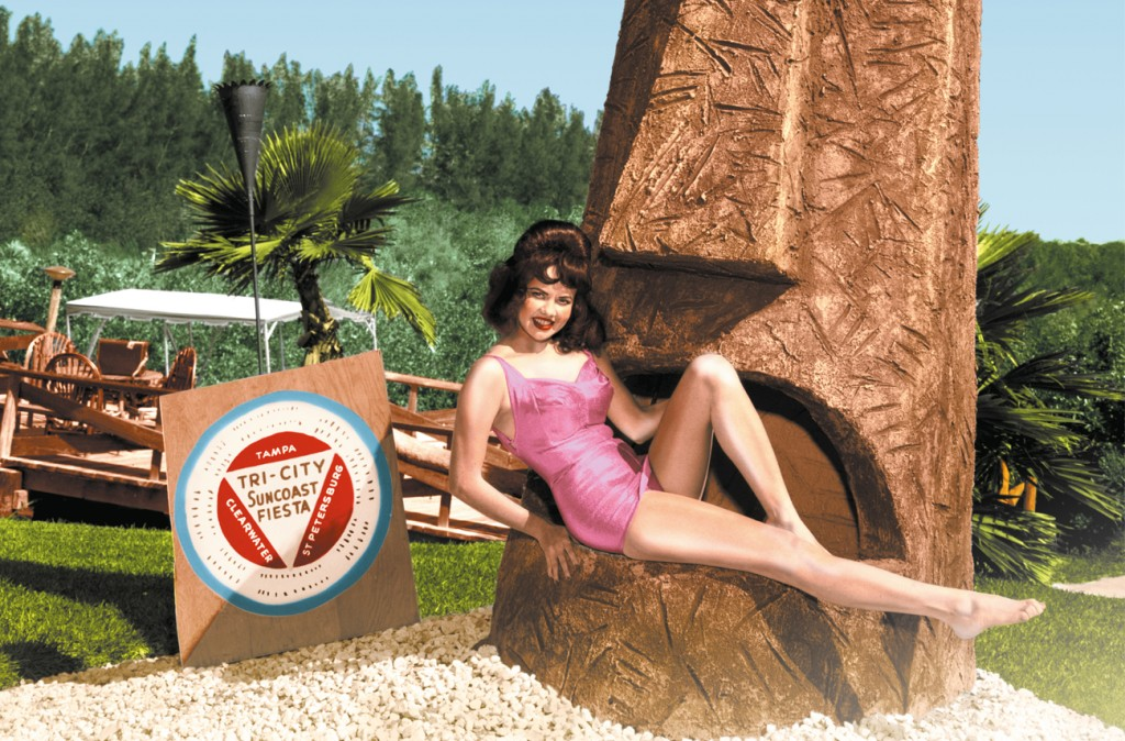 """MQB. Affiche de l'exposition : """"TIKI POP - L'Amérique rêve son paradis polynésien"""". Du 24 juin ay 28 septembre 2014."""