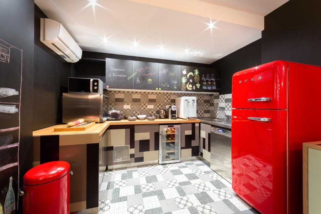 La cuisine de l'Hôtel Crayon Rouge. Copyright Damien Letorey.