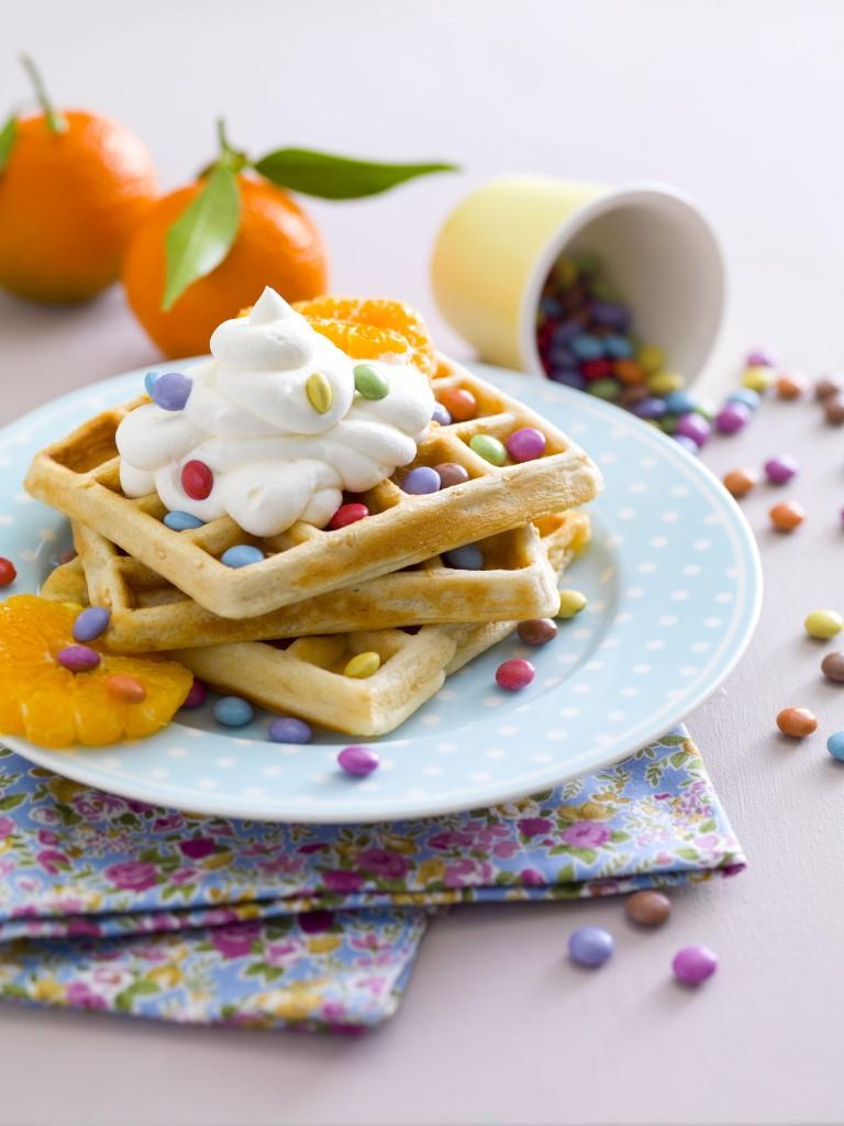 Gaufres crème à l'eau de fleur d'oranger