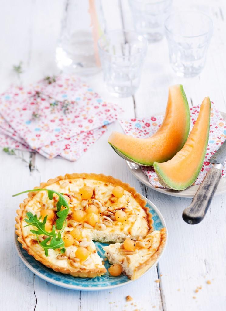 tarte-ricotta-melon