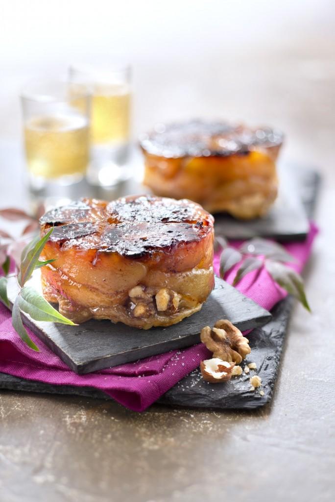 CAUVIN-recettes-2015-Recette-Automne-Tartelettes-tatin-reinettes-Vigan-huile-macadamia-fruits-secs-caram+®lis+®sucré salé pour Cauvin