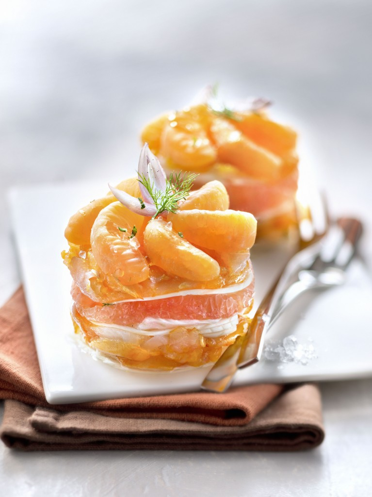 BOUQUET #Millefeuille Clemensoon et haddock cru, pamplemousse, fenouil et échalote rose