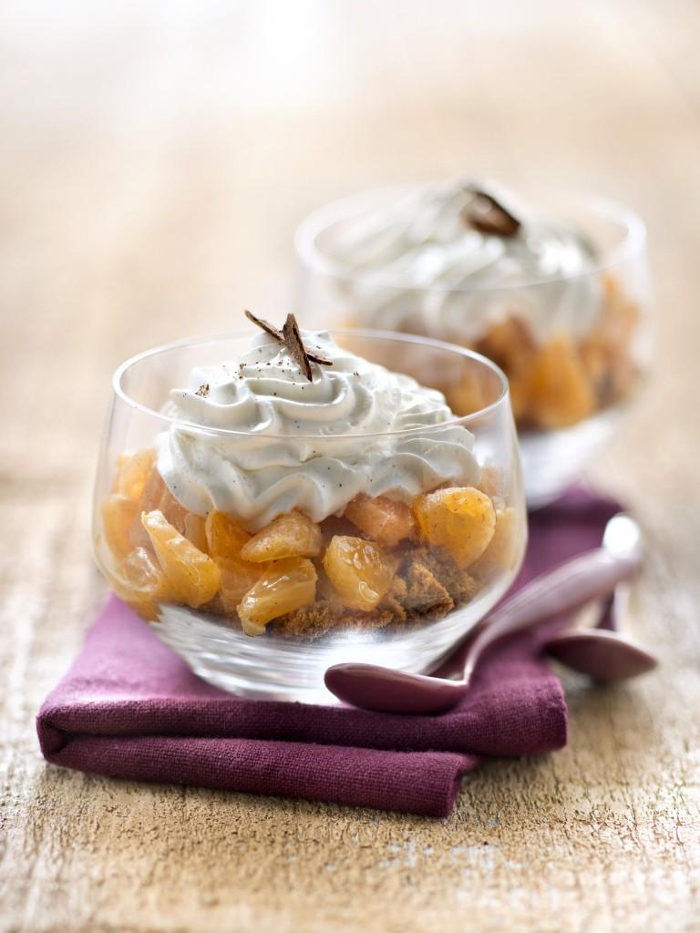 BOUQUET #Verrine concassé de spéculoos tartare de Clemensoon à la cannelle et chantilly vanillée