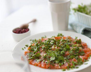 Ravigote de saumon mariné