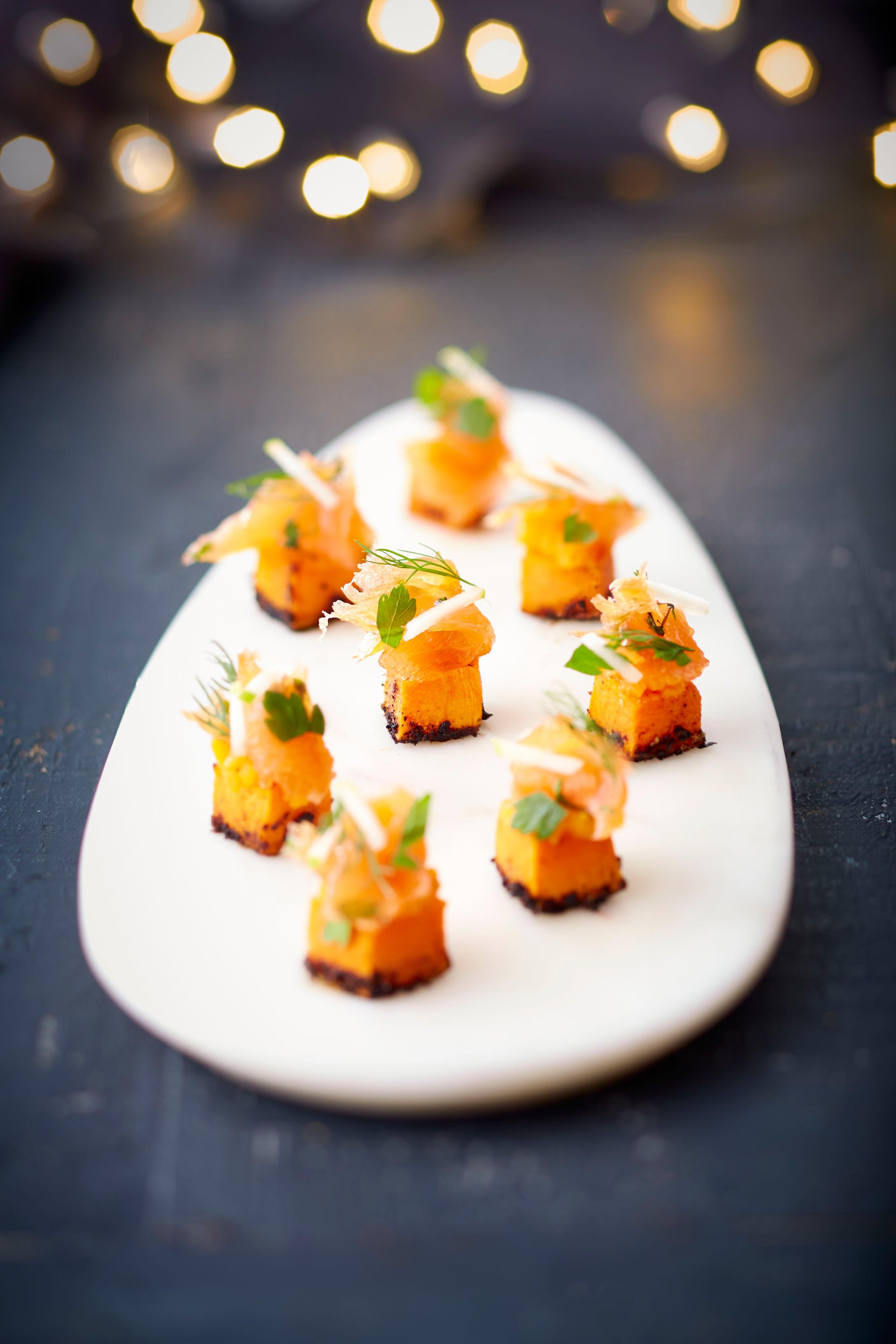 Cubes-de-butternuts-et-son-saumon-de-Norvège-gravlaks
