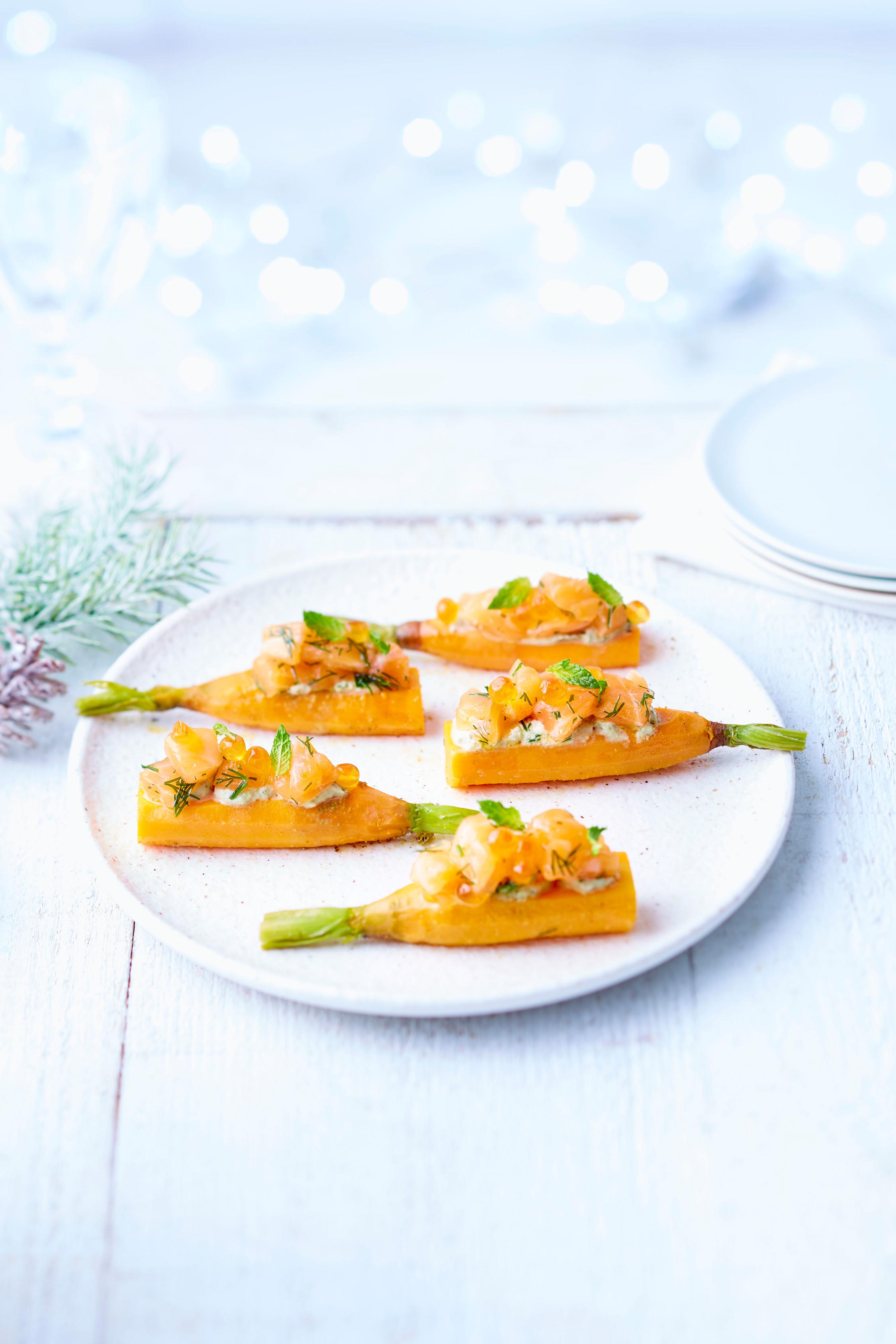 Saumon-de-Norvège-mariné-croc'carotte-et-sa-crème-mentholée