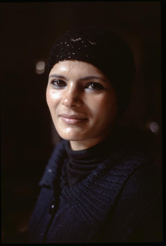 Jordanie. PŽtra. L'ancienne citŽ NabatŽenne. Portrait d'une jeune bŽdouine.