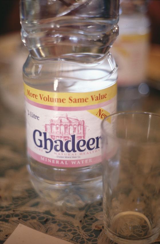 Jordanie. Ghadeer est la principale marque d'eau du pays.