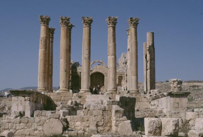 Jordanie. Jerash. CitŽ archŽologique autrefois grecque-romaine-byzantine.