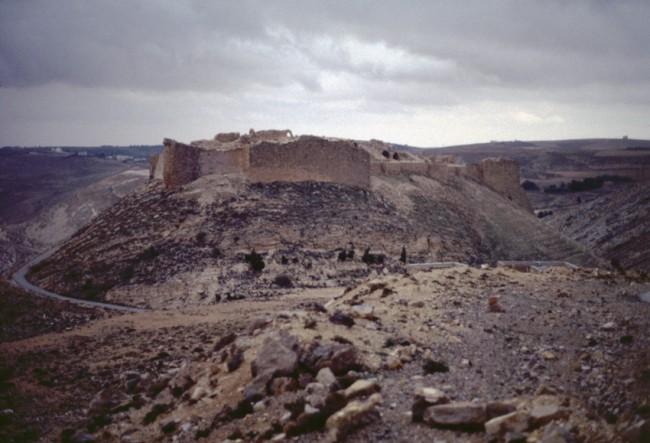 Jordanie. Wadi el-Mujid. Les montagnes de Jordanie.