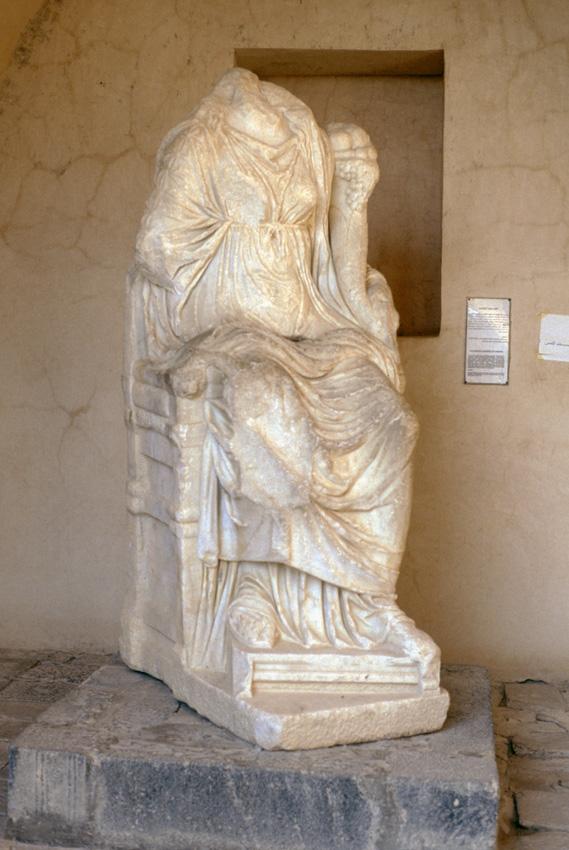 Jordanie. Umm Qais. MusŽe. DŽesse de Gadara en marbre blanc.